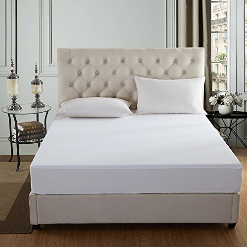 JML Waterproof Mattress Protector Queen Size, Hypoallergenic