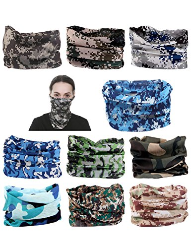 10 pcs you Seamless Headband Versatile 12-in-1 Stretchable Headwear Bandana Headwrap Sweatband Scarf, Balaclava, Helmet Liner, Face Mask for ATV/UTV Riding UV Protection Sport & Casual Multifunctional