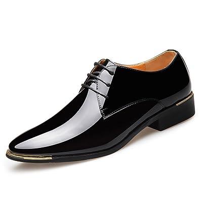 Herren Echtleder Schuhe Business Casual Schuhe Shiny Leder Fashion Herrenschuhe