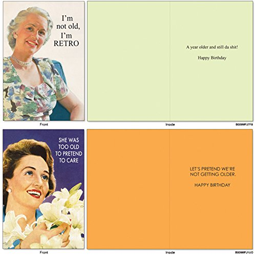 A1236 OLD ENOUGH TO KNOW BETTER Assorted Box Of 10 Hilarious Birthday Cards W