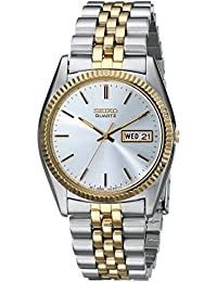 Mens SGF204 Stainless Steel Two-Tone Watch. Seiko