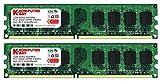 (US) Komputerbay 2GB 2X 1GB DDR2 800MHz PC2-6300 PC2-6400 DDR2 800 (240 PIN) DIMM Desktop Memory