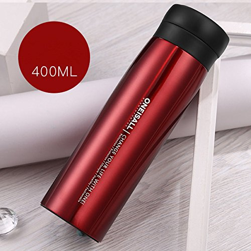 Red Bottle Flask Stainless Steel Insulated Travel Tumbler by Travel Mugs