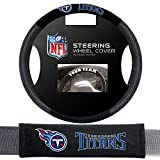 Fremont Die Tennessee Titans NFL Steering Wheel Cover and Seatbelt Pad Auto Deluxe Kit