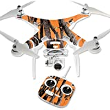 MightySkins Protective Vinyl Skin Decal for DJI Phantom 3 Standard Quadcopter Drone wrap cover sticker skins Orange Camo
