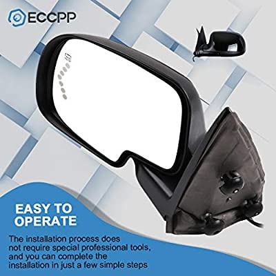 Door Mirrors ECCPP High Performance LH+RH Side Mirror Replacement Driver+Passenger Side Mirror With Power Adjusted Heated Manual Folding for 2003-2006 Chevrolet Silverado Suburban Tahoe GMC Sierra Yuk: Automotive