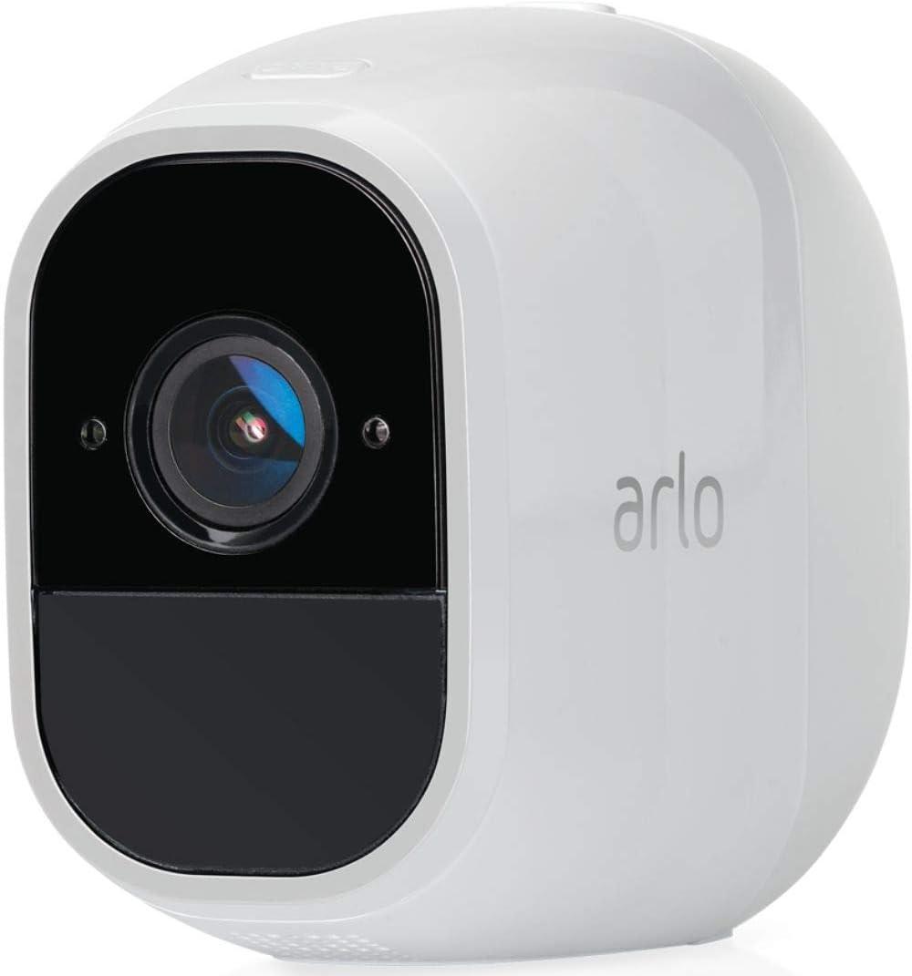 Arlo Pro2 Überwachungskamera Alarmanlage 1080p Zusatzkamera Kabellos Innen Aussen Bewegungsmelder Nachtsicht 130 Grad Blickwinkel Smart Home Wlan 2 Wege Audio Wetterfest Vmc4030p Weiß Baumarkt