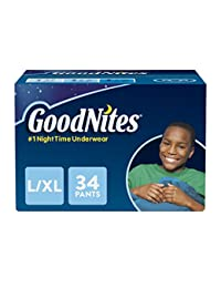 GoodNites Bedtime Bedwetting Underwear for Boys, L-XL, 34-Count, Stripe and Camouflage Design, Protective Nighttime Underwear for Boys BOBEBE Online Baby Store From New York to Miami and Los Angeles