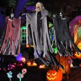 3 Pack Halloween Decorations Skeleton Hanging Ghost for Indoor and Outdoor Halloween Decoration Haunted House Props Scary Skeletons Wall Bar House Decor Festive Party Supplies