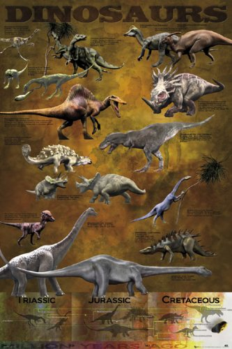 Dinosaurs - Nature Poster Triassic, Jurassic & Cretaceous By Stop Online