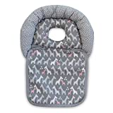 Boppy Noggin Nest Head Support, Gray Giraffes, Head Support for Infants