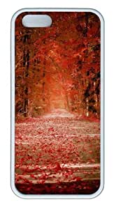 autumn232 TPU Silicone Case Cover for iPhone 5/5S White Thanksgiving Day gift