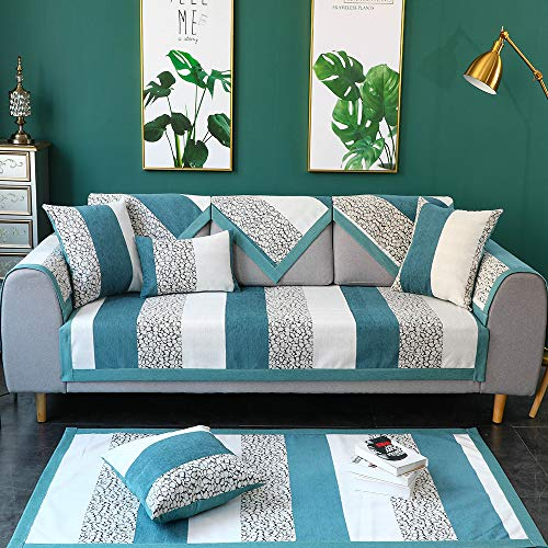 TEWENE Couch Cover, Sofa Cover Couch Covers Sectional Couch Covers Anti-Slip Sofa Slipcover for Dogs Cats Pet Love Seat Recliner Cushion Cover Blue (Sold by Piece/Not All Set)