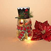 GIL 2270570 9 H Electric Lighted Crackle G Christmas, 5InL x 5InW x 9InH, Multicolor