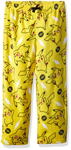 Pokemon Boys' Big' Pikachu Lounge Pant, Pika Power, 10 -