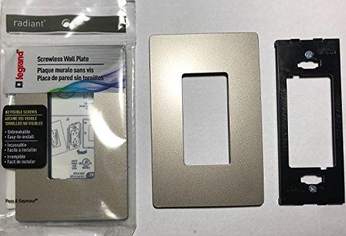 Legrand RWP26NICC6 Radiant Nickel 1 Gang Screwless Electrical Wall Plates - Quantity 18