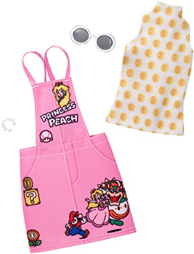 Barbie Super Mario White Shirt and Pink Jumper Pack
