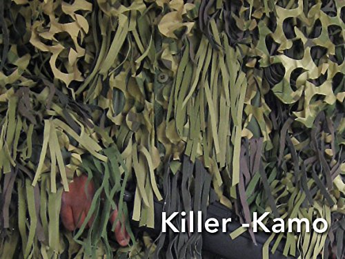 CamoSystems Jackal Sniper Suits - Ghillie Short Hooded Jacket with Trousers, M/L 38-44 C, 32-38 W, Killer Kamo