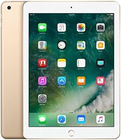 Apple iPad with WiFi, 32GB, Gold (2017 Model)
