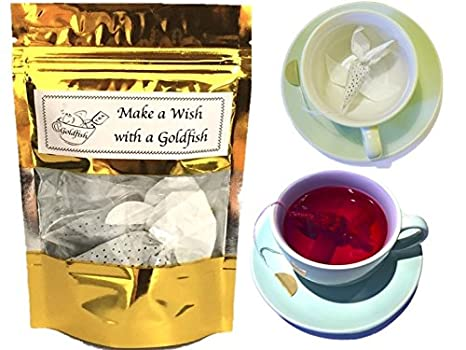 Amazon.com: Idea de regalo para el té amante 3 Goldfish ...