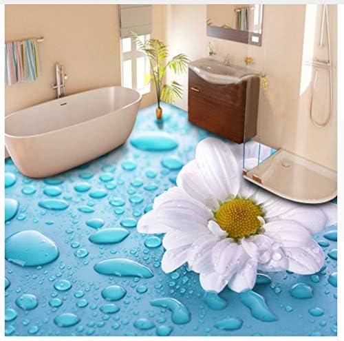 Custom Floor Wallpaper 3d Stereoscopic Drops Flower Vinyl Floor