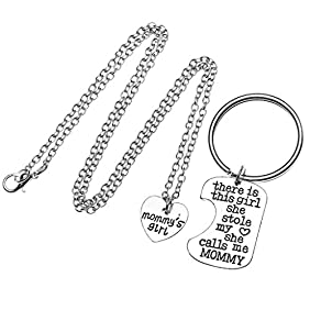 Top Plaza Father Mother Daughter Grandpa Grandma Granddaughter Sister Brother Keychain Necklace Jewelry