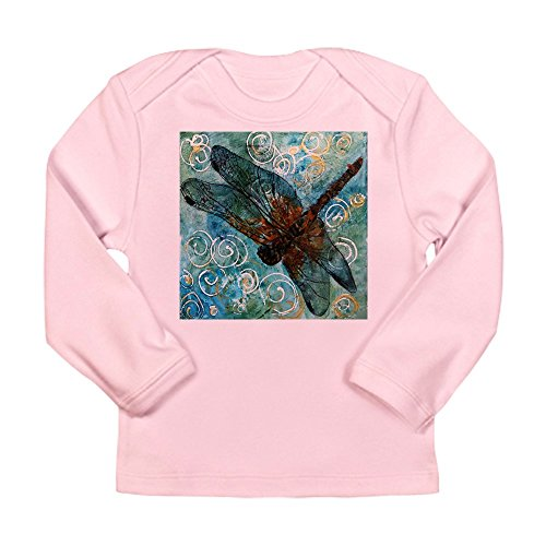 CafePress - Dragonfly Dreams - Long Sleeve Infant (Pink Dragonfly Dreams)