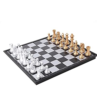 Chess Set, Cutoy Folding Magnetic Travel Chess Sets Portable Game Board -12.5 Inches for Kids Adult Man Women Teens Toy Gift - Learning and Education Toys Gift Mother's Day Gift