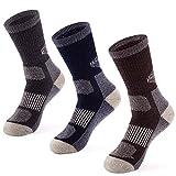 MERIWOOL 3 Pack Merino Wool Blend Socks - Large