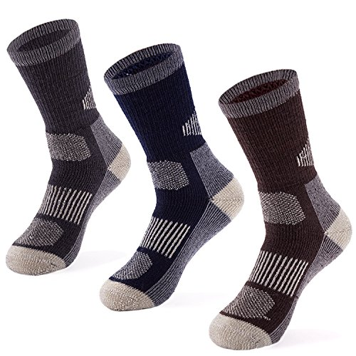 MERIWOOL 3 Pack Merino Wool Blend Socks - Small