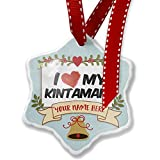 Add Your Own Custom Name, I Love my Kintamani Dog from Indonesia Christmas Ornament NEONBLOND