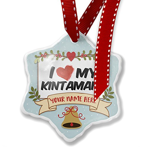 Add Your Own Custom Name, I Love my Kintamani Dog from Indonesia Christmas Ornament NEONBLOND by NEONBLOND