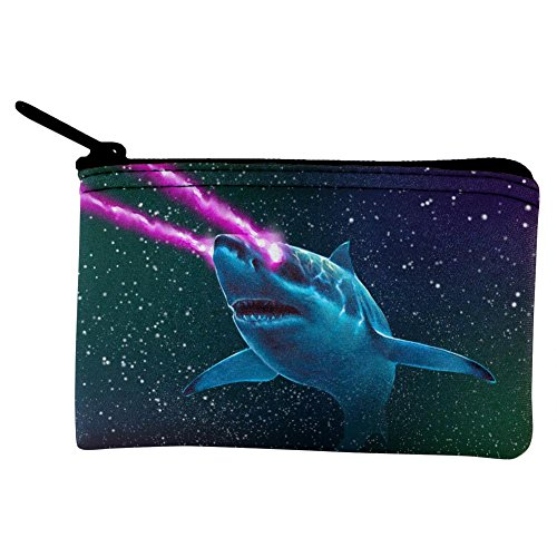 Galaxy Great White Shark Laser Beams Coin Purse Multi Standard One Size