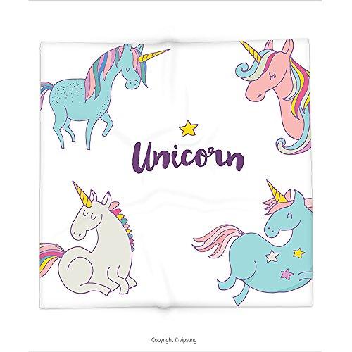 Custom printed Throw Blanket with Unicorn Decor Different Unicorn Female Charm Believe Wish Sublime Animal Concept Multi Super soft and Cozy Fleece (North West Halloween Unicorn)