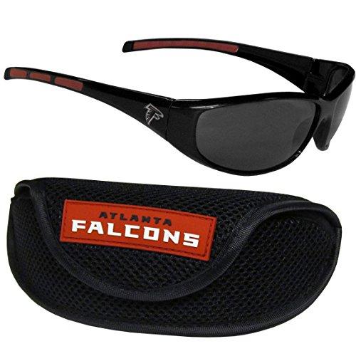 Siskiyou NFL Atlanta Falcons Wrap Sunglasses & Sport Case, Black