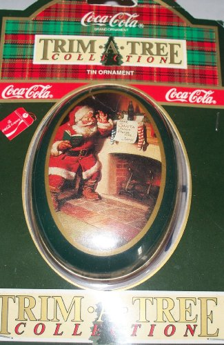 Coca-Cola Collectible Tin Santa Christmas Ornament Style #2 NIB!