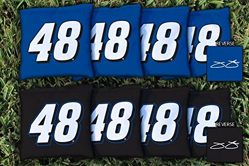 8 NASCAR Jimmie Johnson #48 Regulation All Weather Cornhole Bags (Jimmie Johnson Bag)