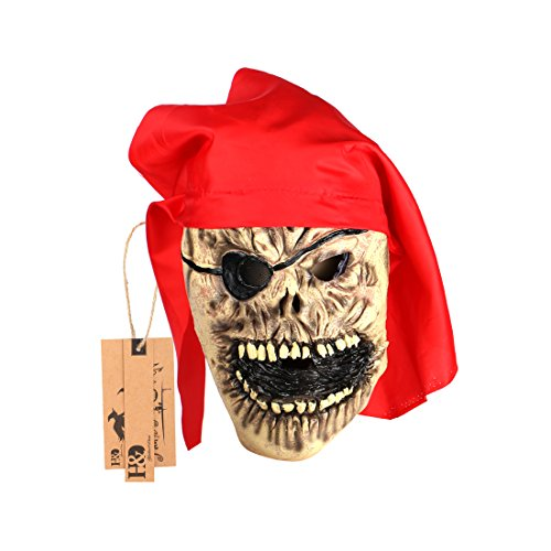[YUFENG Halloween Scary Terrorist Mask for Masquerade Party or Costume Cosplay (pirate king skull] (Terrorist Costumes)