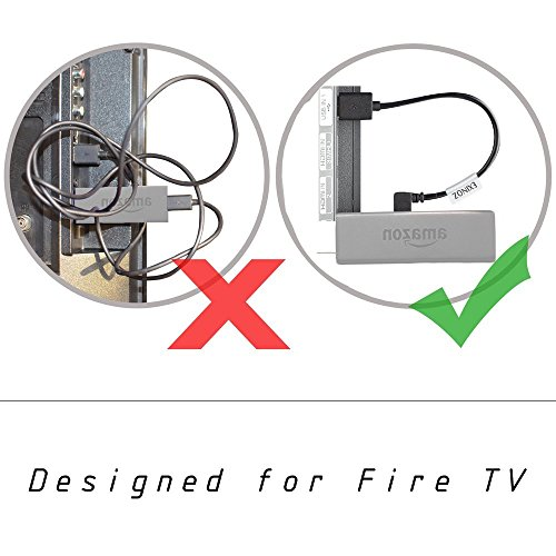 EXINOZ Universal Mini Power Cable For Fire TV Stick, Roku, Chromecast. Powers Your Streaming Media Device from Your TV USB Port (2 Pack) by Exinoz (Image #3)