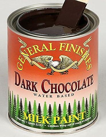 General Finishes Water Based Milk Paint Dark Chocolate Quart - Glaze Wood Cabinets