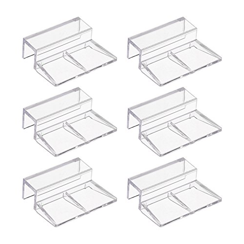 Bluecell 6pcs Clear Color Acrylic Aquarium Fish Tank Glass Cover Clip Support Holder,12mm
