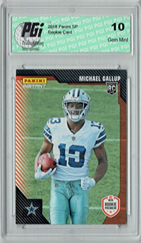 Michael Gallup 2018 Panini Rookie Premiere #FL24 1/243 Made Rookie Card PGI 10