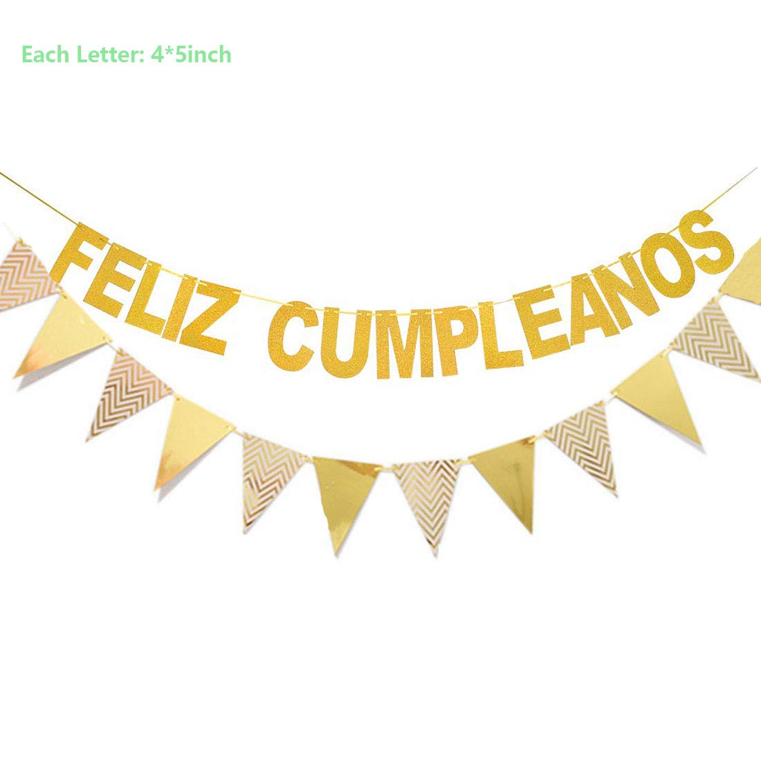 Amazon.com: Feliz Cumpleanos Decorations Set, Feliz ...
