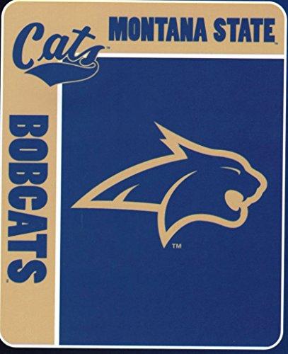 "NCAA Montana State Bobcats 50-Inch-by-60-Inch Raschel Plush Throw ""School Spirit"" Design"