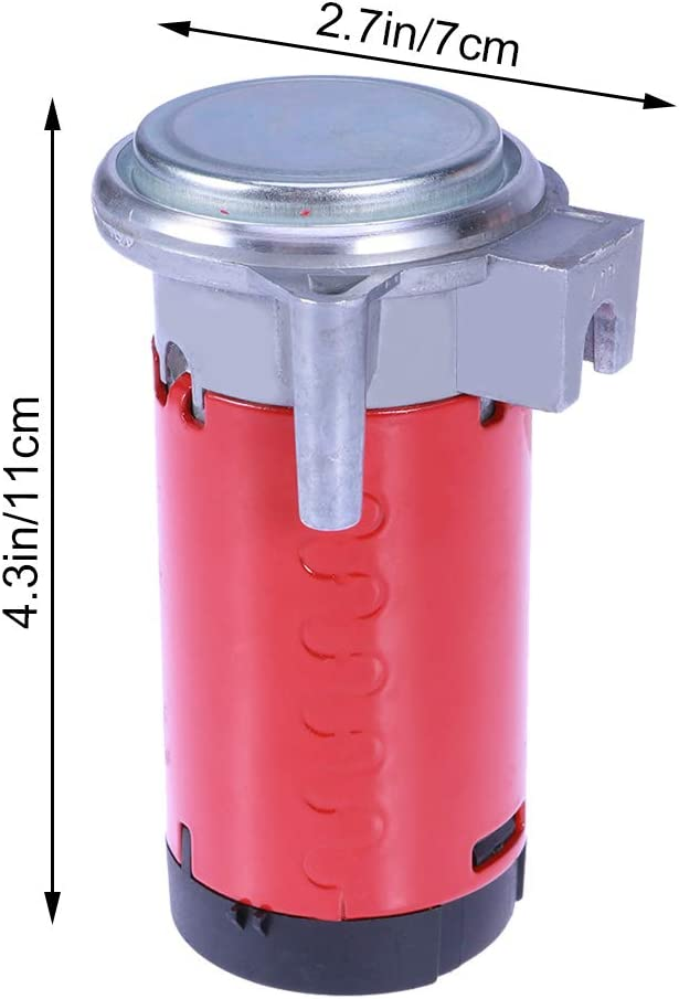 Rot Ersatz 12 V f/ür Luft Horn Vosarea Motorrad-Luftkompressor