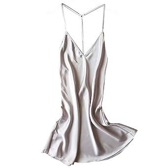 Nachthemd Pyjama Schlafanzug Weich Lounge-Hosen Damen Morgenmantel Set Satin