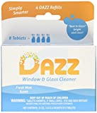 DAZZ Cleaning Tablets - Window & Glass Cleaner - 4 pack refill