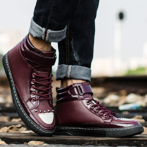 La stivali casual uomini moda uomo tendenza Martin alti RED di da nuova NSXZ aiutare stivali stivali gli 42 per 41 dYqxwAad
