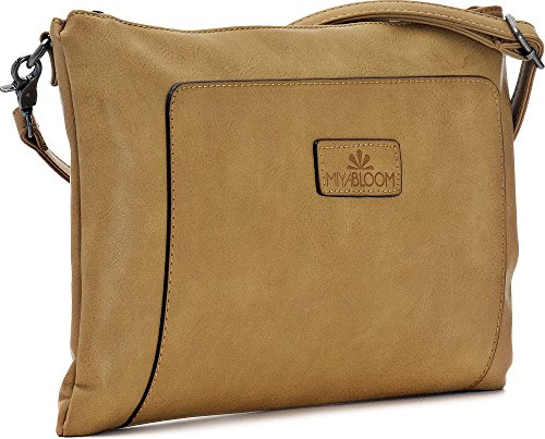 22 cm underarm bags evening bags crossover clutches MIYA handbags x H bags x x bags 33 shoulder W x D ladies Camel camel 2 BLOOM colour TqTAf6p