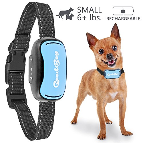 Small Dog Bark Collar For Tiny To Medium Dogs by GoodBoy Rechargeable And Waterproof Vibrating Anti Bark Training Device That Is Smallest & Most Safe On Amazon – No Shock No Spiky Prongs! ( 6+ lbs )